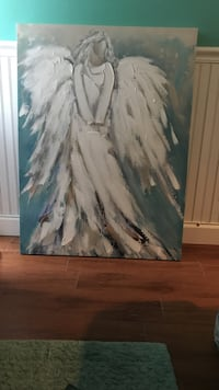 painting of faceless angel