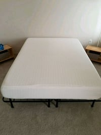 Queen Metal Bed Frame with Mattress Silver Spring, 20906