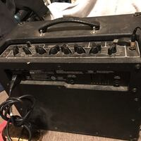 black and gray Peavey guitar amplifier Woodland