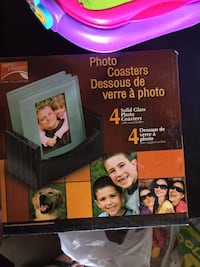 4 glass photo coasters Whitby, L1N