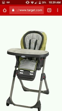 baby's black and green high chair Fresno, 93703