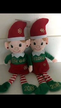 two red and green bear plush toys Ontario, 91762