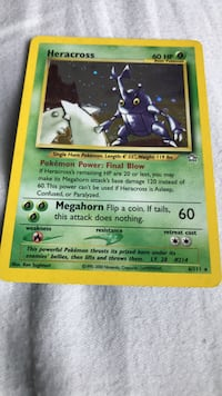 Heracross pokemon card 6/111 Wildomar, 92595