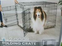Large folding 2 door dog training crate Monrovia, 21770