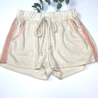POL Plush Drawstring Loungewear Shorts, Small