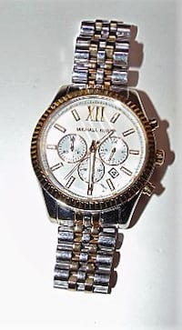 Michael Kors Lexington White Dial Two-Tone SS Chrono Quartz Men's Watch MK8344 $95 Biloxi
