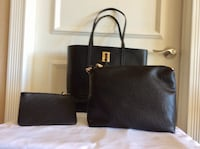 2x NEW Vegan Purse Sets!!!   Black and Gold Vancouver