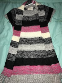 black, white, and pink knitted sweater Enid, 73703