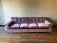 Stunning vintage Mid Century / Hollywood Regency Rose Colored Sofa Los Angeles, 90027