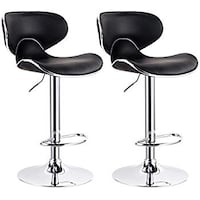 2x Brand new Black leather bar stool contemporary barstool La Puente