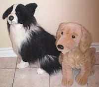 2 Foot Plush Border Collie and Golden Retriever Toy Dogs  539 km