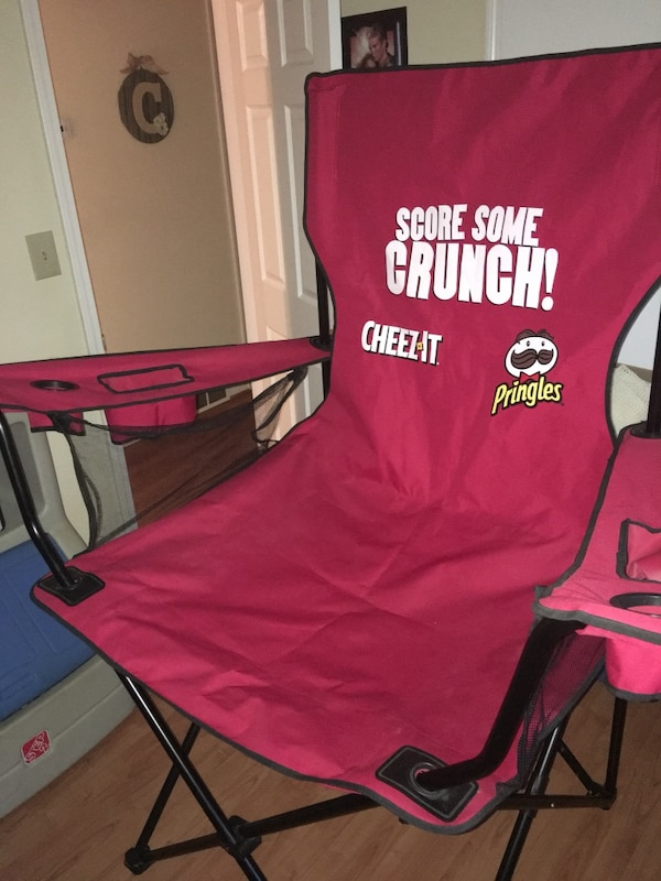 used giant oversized game day cheez it pringles chair for sale in