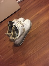 Pair of white snakeskin  nike air force 1 low shoes Toronto, M6M
