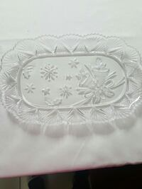 2 Glass Small Serving Plates!