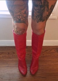 Vintage  Red knee high boots Dallas, 75228