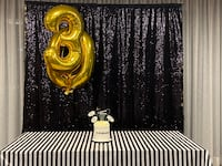 RENT-black or gold sequence backdrop Mississauga