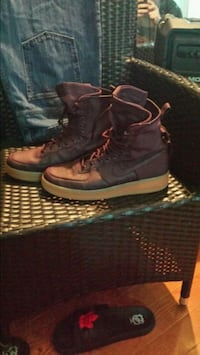 pair of brown gum Nike SF Air Force 1 high-top sneakers Winnipeg, R3E 1H4
