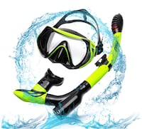 Snorkel Set with Tempered Glass Dry Top Snorkel Set/Anti-Fog Lens, Diving Mask for Adults Women Men Snorkeling Diving New York, 11355