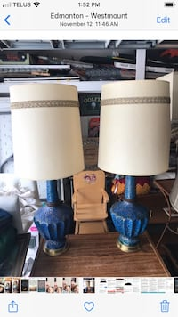 Clean complete vintage Lamps Each $25