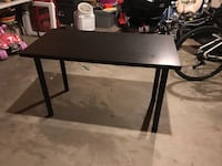 rectangular black wooden coffee table 48 km