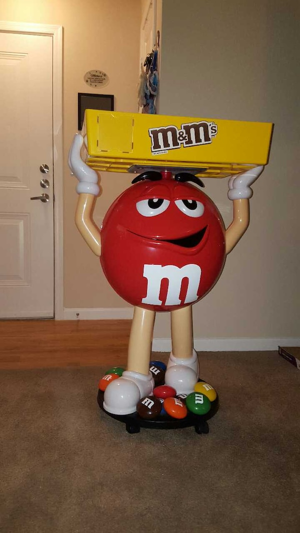 rare red mm candy character store display  sale  menifee letgo