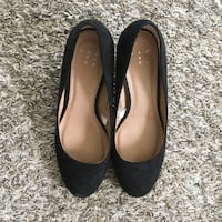 Pair of black suede wedges  Tacoma, 98404