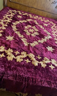 Burgundy and gold queen size I never use it