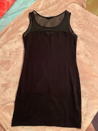 Black F21 Cotton Mesh Mini Dress (Size M) Burnaby, V5C 4S7
