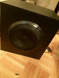black and gray subwoofer speaker Orangeville, L9W 3R2