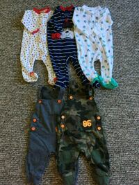 baby's assorted clothes 6 month's Vancouver