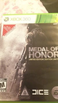 Medal of Honor Warfighter Xbox 360 game case Oshawa, L1L 0B1
