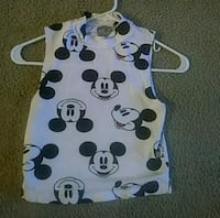 white and black Mickey Mouse print shirt Seattle, 98118