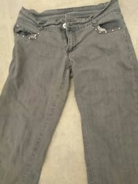 Juniors Gray Jeans Stretch Size 8