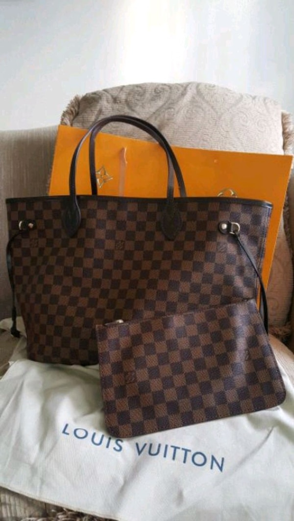 9d06f8857932 Used Louis Vuitton Neverfull damier for sale in Newark - letgo