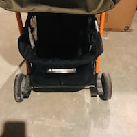 Baby's black and brown stroller 918 mi