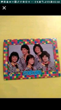Coolest Vintage Menudo Group Card Collectible! Chicago
