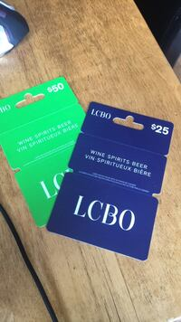 75$ in LCBO gift cards! Trade/sell St Thomas, N5P 3M5