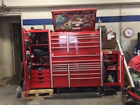 Red and black tool cabinet Webster, 77598