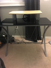 Glass top computer desk with removable monitor shelf Guelph, N1E