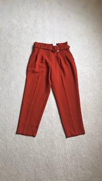 Topshop rust high waisted pant
