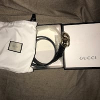 White and black gucci leather belt  Abbotsford, V2T 6S1