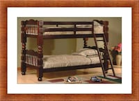 Twin wooden bunkbed frame free delivery Ashburn, 20147