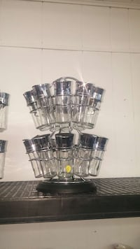 stainless steel condiment shaker with rack set Ontario, P3N 1G1