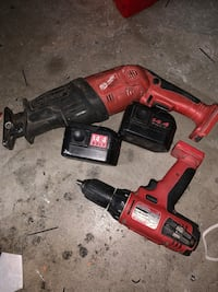 red and black Milwaukee cordless power drill Elk Grove, 95757