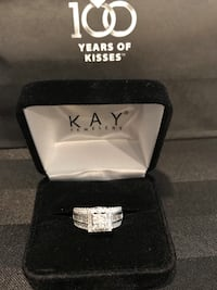 Diamond Engagement Ring 14k White Gold Size 5 Aldie, 20105
