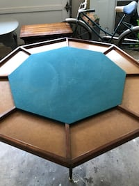 Mid Century green felt top Poker Table FIRM PRICE 532 mi