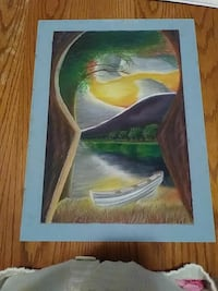 Keyhole to a brighter side painting