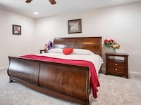King size bed frame and 2 side tables Aldie, 20105