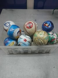assorted color and pattern decorative baseball lot New York
