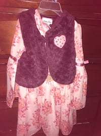 4t girl dress, set and jacket
